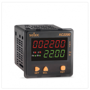 6 Digits Counter + 4 Digits Rate Indicator, RS485 Communication, Size : 72 X 72mm [XC2200]