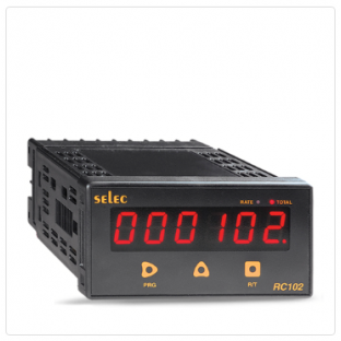 6 Digits Counter + 4 Digits Rate Indicator, Programmable Input Scaling [RC102C]