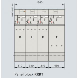 Tủ trung thế siemens 24KV 630A 20kA/3s RRT 04 ngăn loại block không mở rộng